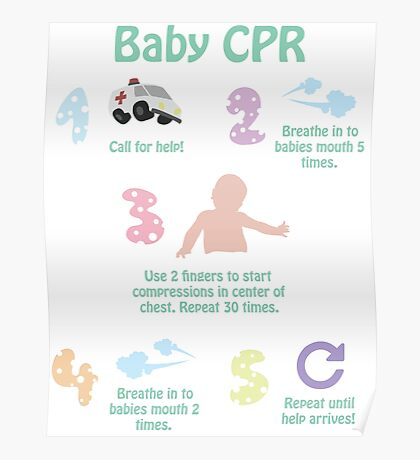 5 Steps of Baby CPR Poster