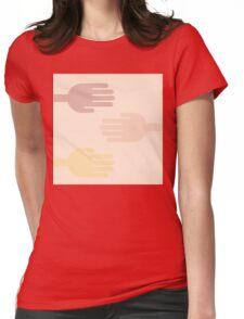 """Caffè mocha hand"" texture by MrN Womens Fitted T-Shirt"