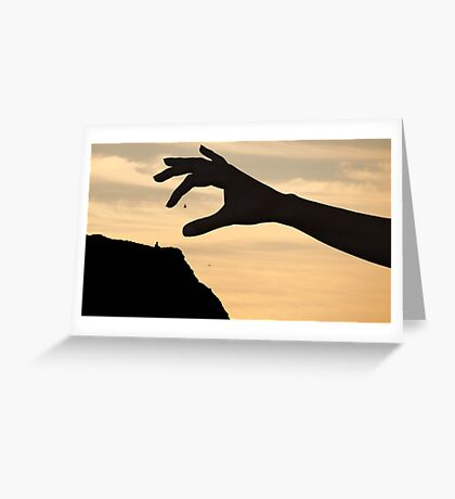 Cliffside Giants Greeting Card