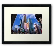 The Colors of Time Square Framed Print