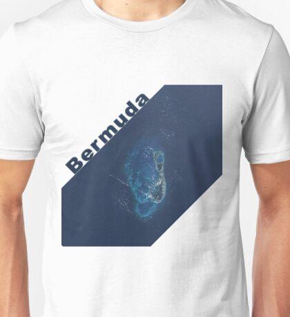 Island of Bermuda Atlantic Ocean Satellite Image Unisex T-Shirt