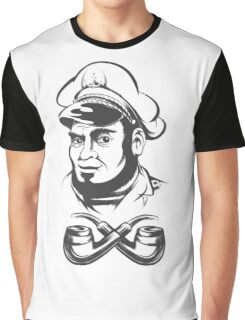 Captain with smoking pipes Graphic T-Shirt