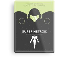 Super Metroid: Retro Poster Metal Print