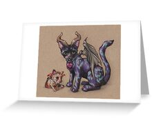 Pet Monsters - RedBubble Challenge October 2016 Greeting Card