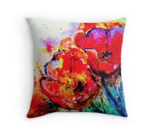 The Abstract Tulip Throw Pillow
