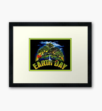 EARTH DAY; Conservation Advertising Print Framed Print
