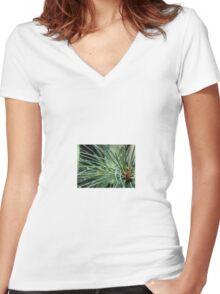 Pine Needles Women's Fitted V-Neck T-Shirt