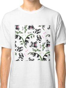 pattern with cute panda.  Classic T-Shirt