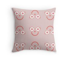 """""""Happy Pink big eyes"""" texture by MrN Throw Pillow"""
