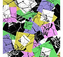 Abstract pastel marble tiles pattern Photographic Print