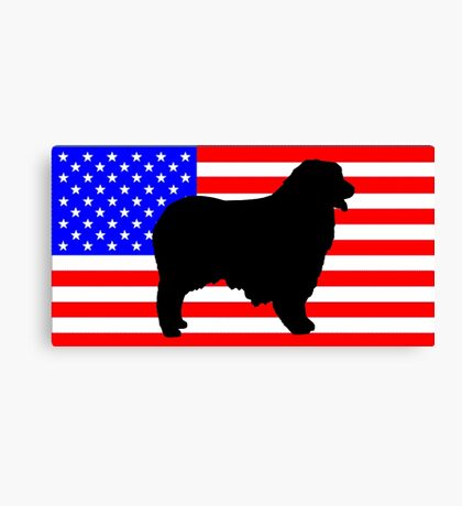 AS silhouette on flag Canvas Print