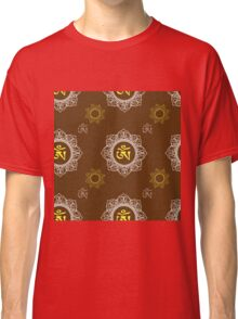 pattern with Om ornament Classic T-Shirt