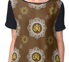 pattern with Om ornament Chiffon Top