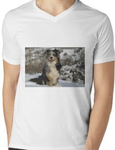 AS in snow 2 Mens V-Neck T-Shirt