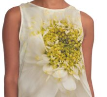 White Mini Chrysanthemum Macro Contrast Tank
