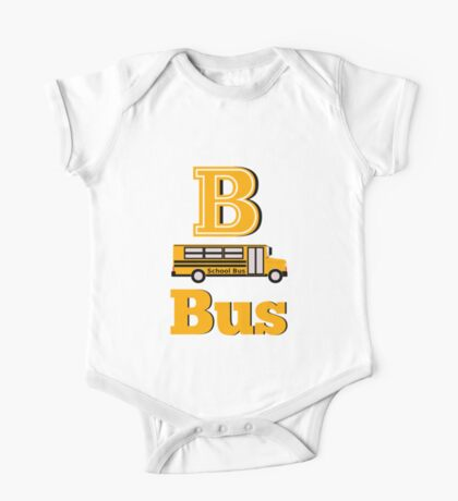 Baby learns the letter B from the alphabet One Piece - Short Sleeve