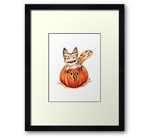 Pumpkin loth-Cat Framed Print