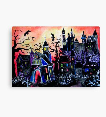 HALLOWEEN CITY Canvas Print