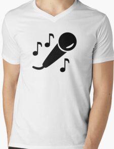 Microphone notes Mens V-Neck T-Shirt