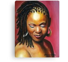 Lady with braids Canvas Print