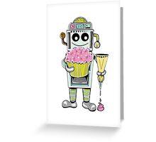 Birthday Cupcake Bake Bot Greeting Card
