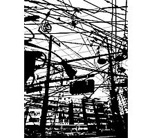 telephone poles 2 Photographic Print