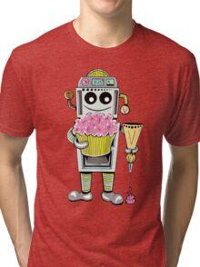 Birthday Cupcake Bake Bot Tri-blend T-Shirt