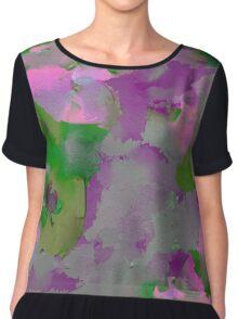 Raw Paint - Purple And Green Chiffon Top