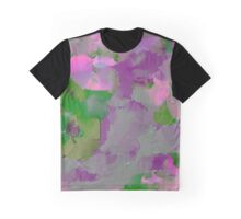 Raw Paint - Purple And Green Graphic T-Shirt