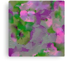 Raw Paint - Purple And Green Canvas Print
