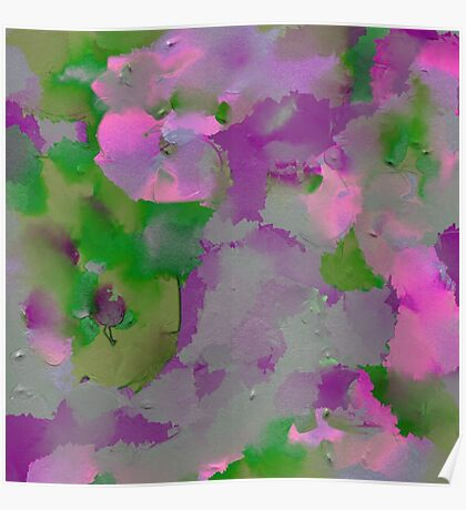 Raw Paint - Purple And Green Poster