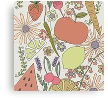 fruits vegetables and flower power Canvas Print