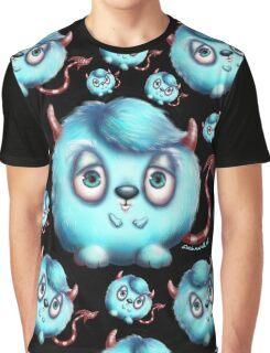 Monster in Blue - Fluffy Little Devil Graphic T-Shirt