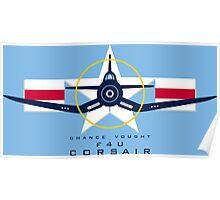 F4U Corsair Warbird Graphic1 Poster