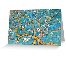 Impressions of Almonds in Bloom Greeting Card
