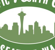 FPacific North West - Seattle RUSTIC GREEN Sticker