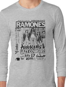 Old Punk Flyer Long Sleeve T-Shirt