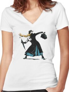 The Nanny Women's Fitted V-Neck T-Shirt