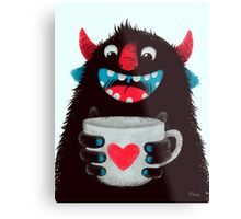 Demon with cup Metal Print