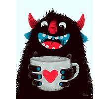 Demon with cup Photographic Print