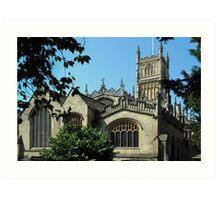 Cirencester Parish Church. Art Print