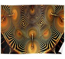Abstract, Gold and Black Fractal Poster