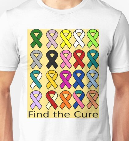 Cancer Ribbons Awareness Cure Unisex T-Shirt