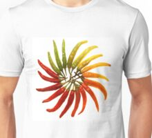 Charleston Hot Peppers Color Wheel Unisex T-Shirt