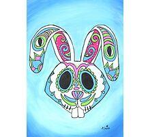 Skull Candy Easter Bunny Sugar Skull Photographic Print