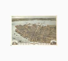 Vintage Pictorial Map of Charleston (1872) Unisex T-Shirt