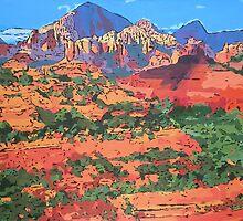 Sedona Arizona Red Rock Painting by Annika Thurgood
