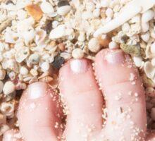 Seashells between her Toes Sticker