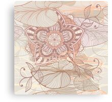Soft lily background Canvas Print