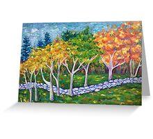 Fall Landscape Greeting Card